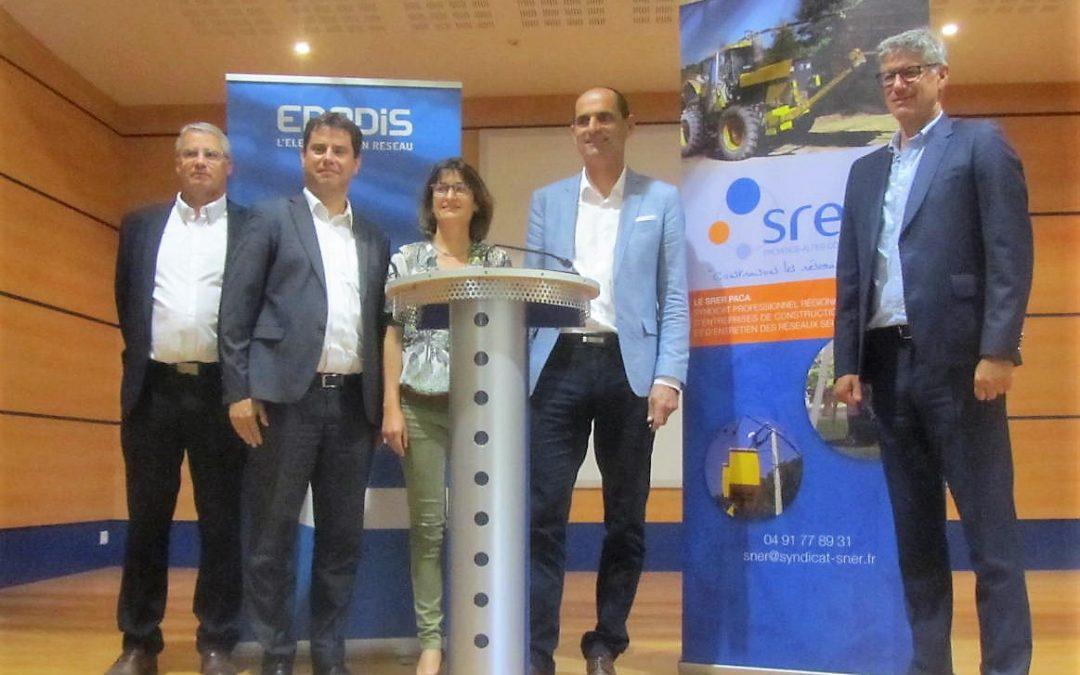 Signature d'une charte entre ENEDIS et le SRER PACA, le 25 mai 2018