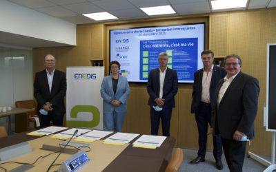 Signature de la charte enedis sner le 20 septembre à Paris